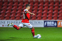 Fleetwood Town's forward Dan Mooney (40) during the The Leasing.com Trophy match between Fleetwood Town and Liverpool U21 at Highbury Stadium, Fleetwood, England on 25 September 2019. Photo by Stephen Buckley / PRiME Media Images.