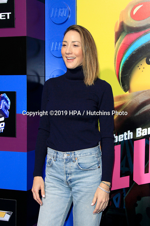 "LOS ANGELES - FEB 2:  Bree Turner at ""The Lego Movie 2: The Second Part"" Premiere at the Village Theater on February 2, 2019 in Westwood, CA"