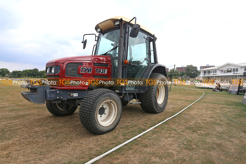 General view of the groundsman's tractor ahead of Kent Spitfires vs Essex Eagles, NatWest T20 Blast Cricket at The County Ground on 9th July 2017