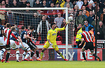 Jamal Blackman of Sheffield Utd saves during the championship match at the Bramall Lane Stadium, Sheffield. Picture date 14th April 2018. Picture credit should read: Simon Bellis/Sportimage
