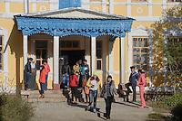 Hochschulgeb&auml;ude in Karakol, Kirgistan, Asien<br /> College Building in Karakol, Kirgistan, Asia