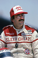 Bobby Rahal in the pit lane after qualifying for his first Indianapolis 500 on May 30, 1982, at the Indianapolis Motor Speedway in Indianapolis, Indiana.