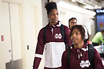 DALLAS, TX - APRIL 2: Members of the Mississippi State Lady Bulldogs arrive ahead of the championship game during the 2017 Women's Final Four at American Airlines Center on April 2, 2017 in Dallas, Texas.<br /> (Photo by Ben Solomon/NCAA Photos via Getty Images)