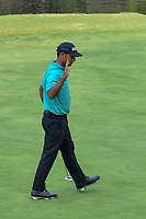Shubhankar Sharma (IND) reacts to sinking his birdie putt on 17 during round 2 of the World Golf Championships, Mexico, Club De Golf Chapultepec, Mexico City, Mexico. 3/2/2018.<br /> Picture: Golffile | Ken Murray<br /> <br /> <br /> All photo usage must carry mandatory copyright credit (&copy; Golffile | Ken Murray)