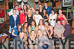 8575-8580.TEEN SCENE: Pamela Fitzgerald (seated 3rd left) Woodlee,Tralee, enjoying her 18th birthday bash with many friends and family, in the Huddle bar, Strand Rd, Tralee last Saturday night.