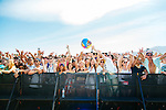 Rapper Action Bronson's fans at the Coachella Valley Music and Arts Festival in Indio, California April 10, 2015. (Photo by Kendrick Brinson)
