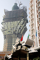 The Hotel Lisboa with the Grand Lisboa being built in the background.<br /> May 08, 2007