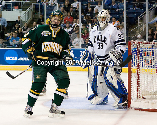 Colin Vock (Vermont - 10), Alec Richards (Yale - 33) - The University of Vermont Catamounts defeated the Yale University Bulldogs 4-1 in their NCAA East Regional Semi-Final match on Friday, March 27, 2009, at the Bridgeport Arena at Harbor Yard in Bridgeport, Connecticut.