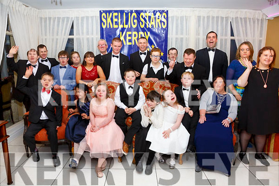 Skellig Stars Special Olympics Club celebrated their athletes achievements with a dinner dance in the Ring of Kerry Hotel on Saturday night last pictured members of the club.