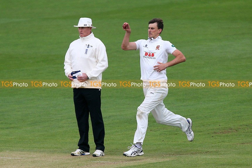 Matt Dixon in bowling action for Essex during Essex CCC vs Durham MCCU, English MCC University Match Cricket at The Cloudfm County Ground on 4th April 2017