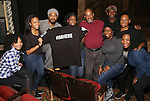 Cast members: Jennie Harney, Phoenix best, Grasan Kingsberry, Carla R. Stewart, Lawrence Clayton, Bre Jackson, Duane Clark, Carrie Compere and Adrianna Hicksfrom 'The Color Purple' host a meet and greet with kids from PAL at The Jacobs Theatre on December 7, 2016 in New York City.
