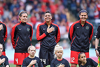 Portland, OR - Saturday June 17, 2017: Emily Menges, Adrianna Franch, Christine Sinclair during a regular season National Women's Soccer League (NWSL) match between the Portland Thorns FC and Sky Blue FC at Providence Park.