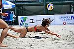 Miwa Asao (JPN), .MAY 5, 2012 - Beach Volleyball : JBV Tour 2012 Sports Club NAS Open at Odaiba Beach, Tokyo, Japan. (Photo by Jun Tsukida/AFLO SPORT) [0003].