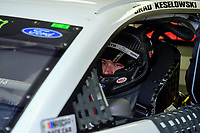 July 15, 2017 - Loudon, New Hampshire, U.S. - Brad Keselowski, Monster Energy NASCAR Cup Series driver of the Wurth Ford (2), gets ready for the NASCAR Monster Energy Overton's 301 practice round held at the New Hampshire Motor Speedway in Loudon, New Hampshire. Larson placed first in the qualifier. Eric Canha/CSM