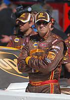 Mar 30, 2007; Martinsville, VA, USA; Nascar Nextel Cup Series driver Dale Jarrett (88) during qualifying for the Goody's Cool Orange 500 at Martinsville Speedway. Martinsville marks the second race for the new car of tomorrow. Mandatory Credit: Mark J. Rebilas