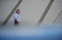Sept. 19, 2008; Dover, DE, USA; Nascar Sprint Cup Series team owner Richard Childress during practice for the Camping World RV 400 at Dover International Speedway. Mandatory Credit: Mark J. Rebilas-