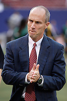 The MetroStars' head coach Bob Bradley. The MetroStars defeated the Columbus Crew 3 - 2 at Giant's Stadium, East Rutherford, NJ, on June 18, 2005.