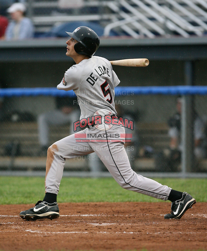 2007:  Collin DeLome of the Tri-City Valley Cats, Class-A affiliate of the Houston Astros, during the New York-Penn League baseball season.  Photo by Mike Janes/Four Seam Images