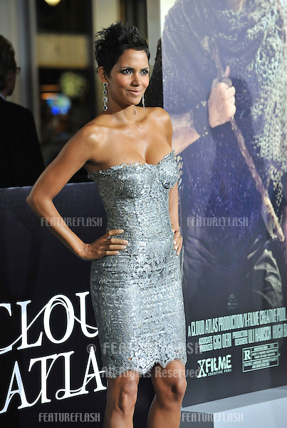 """Halle Berry at the Los Angeles premiere of her new movie """"Cloud Atlas"""" at Grauman's Chinese Theatre, Hollywood..October 24, 2012  Los Angeles, CA.Picture: Paul Smith / Featureflash"""