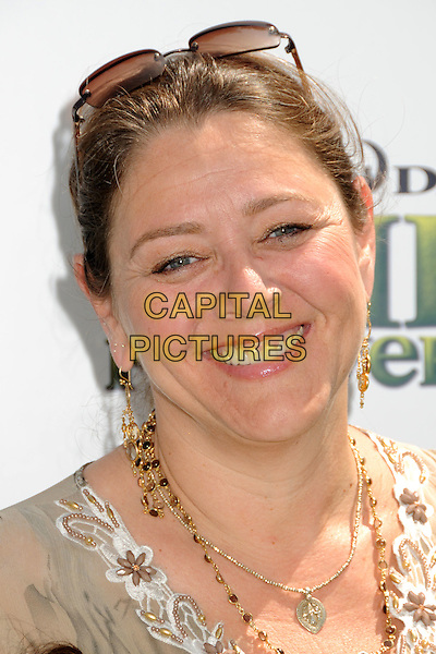 "CAMRYN MANHEIM.""Shrek Forever After"" Los Angeles Premiere held at the Gibson Amphitheatre, Universal City, California, USA..May 16th, 2010.headshot portrait gold beads necklace .CAP/ADM/BP.©Byron Purvis/AdMedia/Capital Pictures."