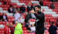 Lincoln City manager Danny Cowley during the pre-match warm-up<br /> <br /> Photographer Chris Vaughan/CameraSport<br /> <br /> The EFL Sky Bet League One - Lincoln City v Fleetwood Town - Saturday 31st August 2019 - Sincil Bank - Lincoln<br /> <br /> World Copyright © 2019 CameraSport. All rights reserved. 43 Linden Ave. Countesthorpe. Leicester. England. LE8 5PG - Tel: +44 (0) 116 277 4147 - admin@camerasport.com - www.camerasport.com