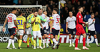 Players from both teams shake hands at the end of the match<br /> <br /> Photographer Andrew Kearns/CameraSport<br /> <br /> The EFL Sky Bet Championship - Bolton Wanderers v Blackburn Rovers - Saturday 6th October 2018 - University of Bolton Stadium - Bolton<br /> <br /> World Copyright © 2018 CameraSport. All rights reserved. 43 Linden Ave. Countesthorpe. Leicester. England. LE8 5PG - Tel: +44 (0) 116 277 4147 - admin@camerasport.com - www.camerasport.com