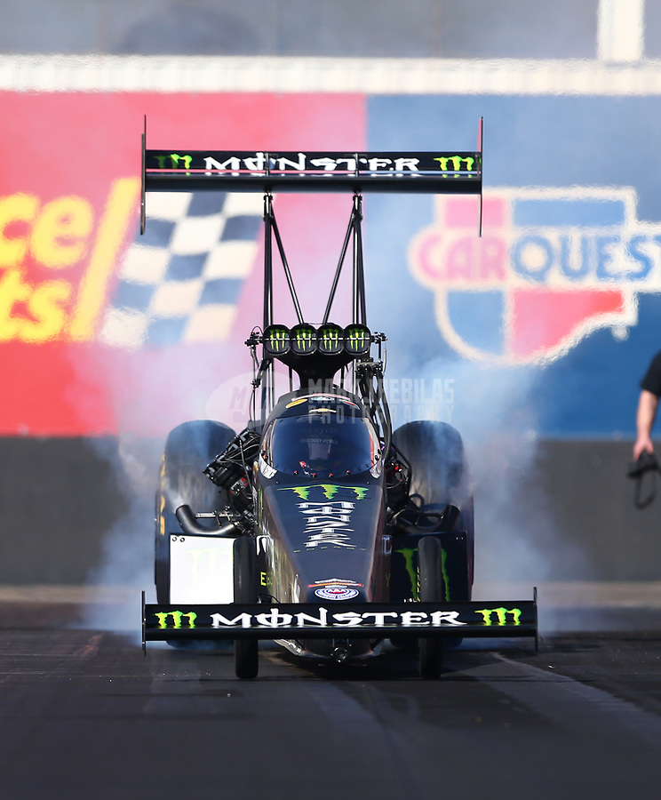 Feb 1, 2018; Chandler, AZ, USA; NHRA top fuel driver Brittany Force during Nitro Spring Training pre season testing at Wild Horse Pass Motorsports Park. Mandatory Credit: Mark J. Rebilas-USA TODAY Sports