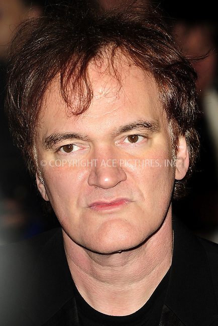 WWW.ACEPIXS.COM....US Sales Only....January 10 2013, New York City....Quentin Tarantino at the premiere of 'Django Unchained' held at the Empire Leicester Square on January 10 2013  in London....By Line: Famous/ACE Pictures......ACE Pictures, Inc...tel: 646 769 0430..Email: info@acepixs.com..www.acepixs.com