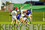 Stephen Power Lixnaw in action against Sean Godley Kilmoyley in the County Senior Hurling final at Austin Stack Park on Saturday.