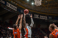 VALENCIA, SPAIN - December 2: DE Andre Kane, Antoine Diop during EUROCUP match between Valencia Basket Club and Ratiopharm ULM at Fonteta Stadium on December 2, 2015