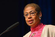 January 2, 2013  (Washington, DC)  D.C. Delegate Eleanor Holmes Norton speaks during a swearing-in ceremony for D.C. Council members at the Washington Convention Center January 2, 2013.  (Photo by Don Baxter/Media Images International)