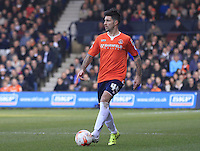 Alan Sheehan of Luton Town looks for options during the Sky Bet League 2 match between Luton Town and Crawley Town at Kenilworth Road, Luton, England on 12 March 2016. Photo by Liam Smith.