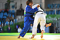 (L-R) Junko Hirose (JPN), Merenciano Herrero Maria Monica (ESP), <br /> SEPTEMBER 9, 2016 - Judo : <br /> Women's -57kg Contests for Bronze Medal <br /> at Carioca Arena 3<br /> during the Rio 2016 Paralympic Games in Rio de Janeiro, Brazil.<br /> (Photo by AFLO SPORT)