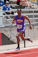 Brentwood's Justice Harris runs a leg of Class 2 the 4x200 relay at the Missouri Class 1 and 2 State Track and Field Championships in Jefferson City, Saturday, May 21. Brentwood finished sixth in 1:33.64.