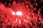 Wales v Germany 11th October 1995 <br /> Fans let off a flare at the Cardiff Arms Park in Cardiff Wales - Picture Sportimage