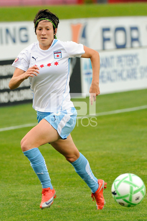 Megan Rapinoe (8) of the Chicago Red Stars. Sky Blue FC defeated the Chicago Red Stars 1-0 during a Women's Professional Soccer match at Yurcak Field in Piscataway, NJ, on June 17, 2009.