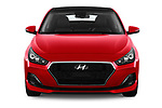 Car photography straight front view of a 2018 Hyundai i30 Fastback Shine 5 Door Hatchback