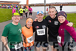 James Tobin (Beaufort) with Suzanne Foley, Sean Murphy and Declan Murphy (Killorglin) and April Baranowski (Chicago), who took part in the Valentines 10 mile road race in Tralee, on Sunday morning last.