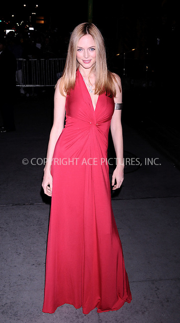 WWW.ACEPIXS.COM . . . . .  ....January 14 2009, New York City....Actress Heather Graham arriving at the 2008 National Board of Review awards gala at Cipriani on January 14, 2009 in New York City.....Please byline: AJ Sokalner - ACEPIXS.COM..... *** ***..Ace Pictures, Inc:  ..tel: (212) 243 8787..e-mail: info@acepixs.com..web: http://www.acepixs.com
