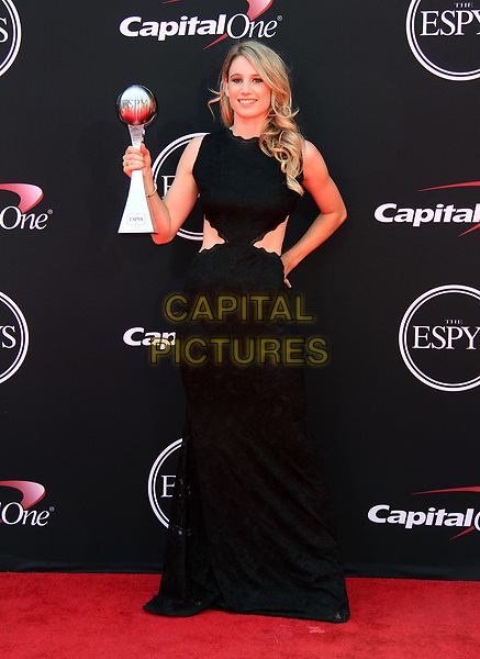 12 July 2017 - Los Angeles, California - Anna Gasser. 2017 ESPYS Awards Arrivals held at the Microsoft Theatre in Los Angeles. <br /> CAP/ADM<br /> &copy;ADM/Capital Pictures