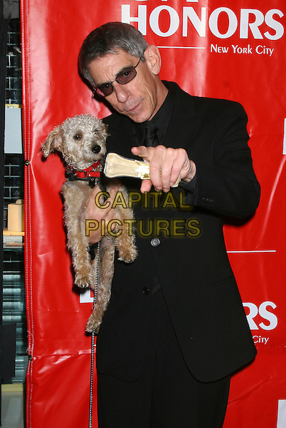 RICHARD BELZER.2006 DGA Honors Arrivals at the DGA Theater, New York, NY, USA..October 12th, 2006.Ref: IW.half length black suit jacket dog animal pet pointing sunglasses shades.www.capitalpictures.com.sales@capitalpictures.com.©Ian Wilson/Capital Pictures