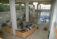 1997 April ..Redevelopment.Tidewater Community College..MARTIN BUILDING.INTERIOR VIEW.COMPLETE.LOOKING FROM RIGHT FRONT TO REAR.FROM MEZZANINE..NEG#.NRHA#..