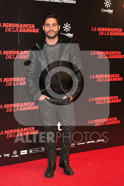 """Miguel Diosdado attends """"La Ignorancia de la Sangre"""" Premiere at Capitol Cinema in Madrid, Spain. November 13, 2014. (ALTERPHOTOS/Carlos Dafonte)"""