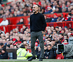 Josep Guardiola manager of Manchester City during the Premier League match at Old Trafford, Manchester. Picture date: 8th March 2020. Picture credit should read: Darren Staples/Sportimage