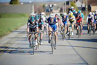 Michal Kwiatkowski (POL/SKY) &amp; Tom Boonen (BEL/Etixx-QuickStep) leading the race<br /> <br /> E3 - Harelbeke 2016