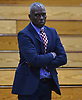 Bernard Tomlin, SUNY Old Westbury men's basketball head coach, observes his team during their 76-69 win over Mount Saint Mary College (Newburgh, NY) at Clark Athletic Center, located on SUNY Old Westbury's campus, on Thursday, Jan. 10, 2019.