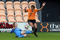 Destiney Toussaint of London Bees and Nicole Kemp of Sheffield FC Ladies during London Bees vs Sheffield FC Ladies, FA Women's Super League FA WSL2 Football at the Hive Stadium on 12th May 2018
