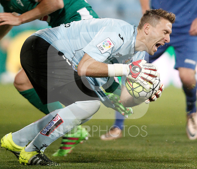 Getafe's Vicente Guaita during La Liga match. March 18,2016. (ALTERPHOTOS/Acero)