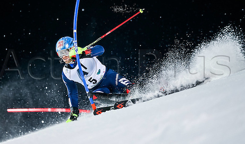 26.01.2016. Schladming, Ausria. FIS Mens Downhill slalom, Schladming World Cup. Stefano Gross of Italy competes during his 1st run of men s Slalom Race of Schladming FIS Ski Alpine World Cup at the Planai in Schladming, Austria on 2016/01/26.