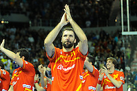 23.01.2013 World Championshio Handball. Match between Spain vs Germay at the stadium Principe Felipe. The picture show  Joan Canellas Reixac (Centre Back of Spain).